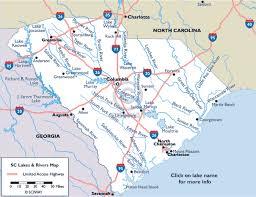 South Carolina lakes images Map of south carolina lakes and rivers gif