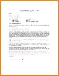 template for appeal letter to insurance business template