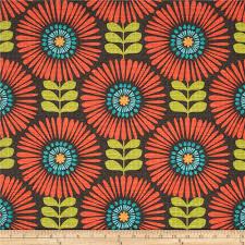 michael miller hashmark fringe flowers clementine from