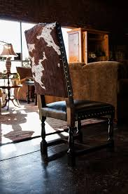 Cowhide Chair Cushions Black And White Cowhide On A Vintage Empire Chair Www