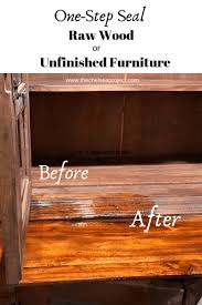 how to stain and seal unfinished cabinets how to seal wood or unfinished furniture in one step