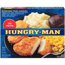 hungry man boneless fried chicken frozen dinner 16 oz box