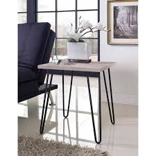 altra owen retro coffee table ameriwood home owen retro end table distressed gray oak gray