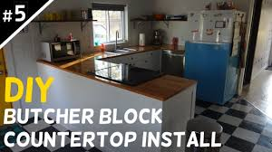 install your own butcher block countertops part 5 of 5 youtube