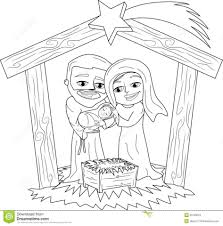 download coloring pages christmas scenes coloring pages