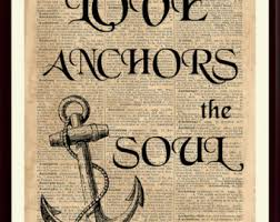Love Anchors The Soulnautical Anchor - anchor artwork etsy