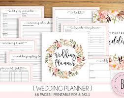 wedding planning planner wedding planner etsy
