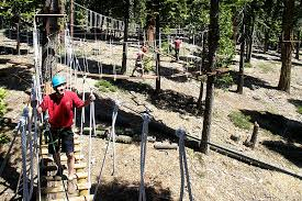 Backyard Zip Line Without Trees by Treetop Adventure Park U0026 Ropes Course Granlibakken Tahoe