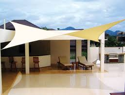 Outdoor Shades For Patio by Shade Sails Are Available Via Major U S Dealers Like Home Depot