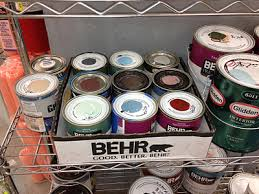 oops paint at home depot and lowes behind the paint counter