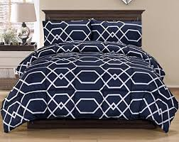 Blue And White Comforters Navy Blue And White Bedding Amazon Com