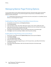 managing banner page printing options enabling banner page