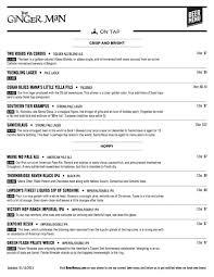 free wine list template create a print beer menu with one click one column print menu