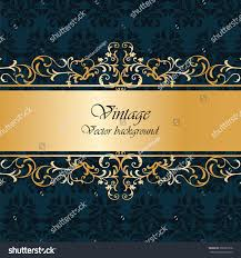vintage background classic royal ornaments gold stock vector
