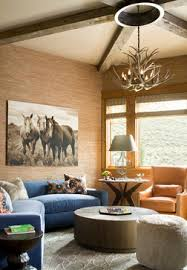 beautiful rustic modern equestrian living room the perfect