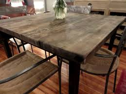Square Wood Dining Tables Square Reclaimed Wood Dining Table Hudson Goods