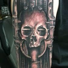 alien skull face tattoo tattooshunt com