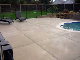 romantic tile on concrete patio on beige exterior paint colors