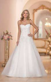 wedding dresses lace u0026 organza a line wedding dress stella york
