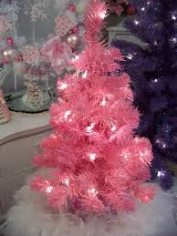 decoration mini pink tree 3 ft lighted artificial