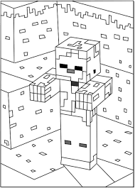 minecraft herobrine coloring pages getcoloringpages