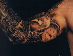 full sleeve mechanical bee and compass tattoos photo u2013 2 tattoo