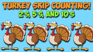 turkey skip count a thanksgiving math song