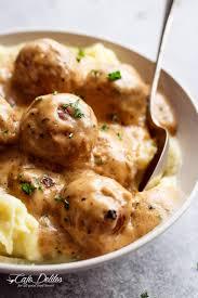turkey meatballs in creamy mushroom swedish meatballs cafe delites