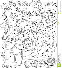 food vector foods stock vector image of food bean leek hazelnut 35376070