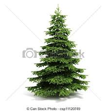 drawing of 3d christmas tree ready to decorate on white
