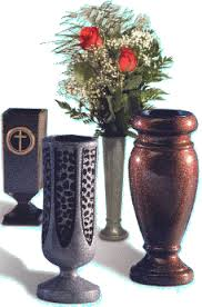 Cemetery Vases Bronze Granite Gravestones And Bronze Markers