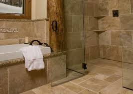Designer Showers Bathrooms Continuous Floor Tile In Rustic Shower Modern Showers Fenzer
