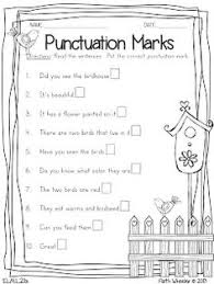 punctuation marks freebie firstgradefaculty com pinterest