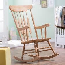 Espresso Rocking Chair Nursery Indoor White Wood Rocking Chair Best Home Chair Decoration