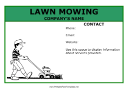 Mowing Flyer Template lawn mowing flyer png