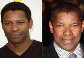 male celebrities 5 top after before images of denzel washington when he is without makeup