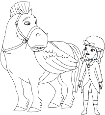 minimus and sofia the first coloring page coloring kids