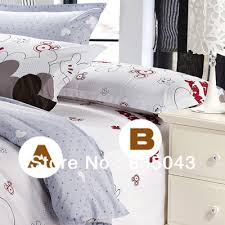Mickey Mouse King Size Duvet Cover Promation Mickey Mouse Bedding Sets King Size 100 Cotton 4pcs