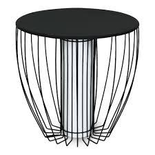 table basse bout de canapé bout de canapé lumineux en acier noir tables basses