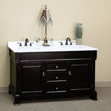 Bathroom Vanities 72 Inches Double Sink by Rustic Double Sink Bathroom Vanity Some Drawers Brown Laminated
