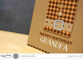 grandpa birthday card with waffle flower crafts and a winner