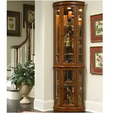 curio cabinet shop pulaski golden oak ii corner curioinet at