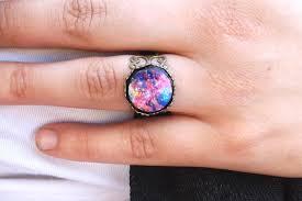 galaxy wedding rings galaxy ring universe ring space ring nebula ring space