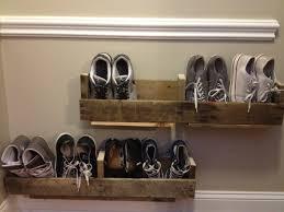 Diy Modern Furniture Ideas Furniture Diy Brown Pallet Wood Floating Shoe Storage Design 12
