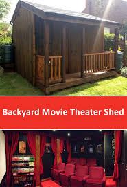 backyard theater audio home outdoor decoration