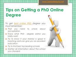 Best Online Phd SlideShare