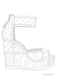 fashion model coloring pages 374 best colouring shoes feets hands zentangles images