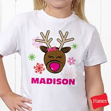 personalized christmas for kids personalized kids christmas t shirts reindeer christmas gifts