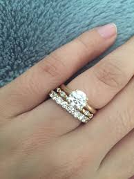 gold wedding band with white gold engagement ring mixed metal engagement ring and wedding band sparta rings