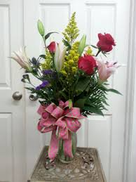 roses and lilies roses and lilies vase arrangement in mount pleasant tx designs